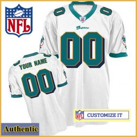 best service 7a0f4 dc95d Miami Dolphins RBK Style Authentic White Ladies Jersey ...