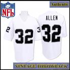 LA Raiders Authentic Style Throwback White Jersey #32 Marcus Allen