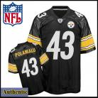 Pittsburgh Steelers Authentic Home Polamalu 43 Black Jersey