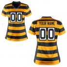 Nike Style Women's Pittsburgh Steelers Customized  Throwback Jersey (Any Name Number)