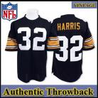 Pittsburgh Steelers Authentic Style Throwback Black Jersey- #32 Franco Harris