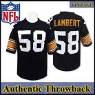 Pittsburgh Steelers Authentic Style Throwback Black Jersey #58 Jack Lambert