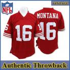 San Francisco 49ers Authentic Style Throwback Red Jersey #16 Joe Montana