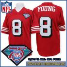 San Francisco 49ers 1994 Authentic Style Throwback Red Jersey #8 Steve Young