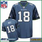 Seattle Seahawks NFL Authentic Blue Football Jersey #18 Sidney Rice