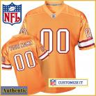 Tampa Bay Buccaneers RBK Style Authentic Alt Orange Jersey (Pick A Player)