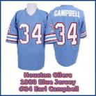 Houston Oilers Throwback Blue 1980 Campbell  34 Jersey