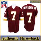Washington Redskins Authentic Style Throwback Burgundy Jersey #7 Joe Theismann