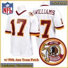 Washington Redskins Authentic Style Throwback White Jersey #17 Doug Williams