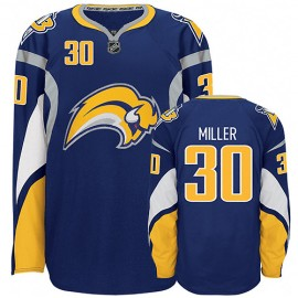 Buffalo Sabres Authentic Style Navy Blue Hockey Jersey #30 Ryan Miller