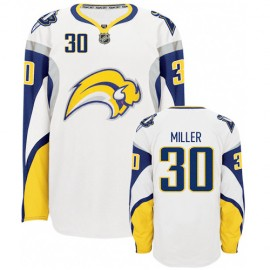 Buffalo Sabres Authentic Style White Hockey Jersey #30 Ryan Miller