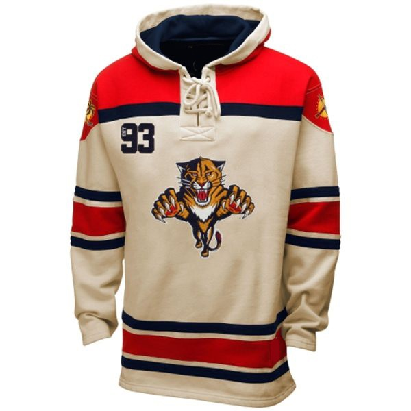 buy popular ce2a1 8b305 Mens Florida Panthers Old Time White Lace Heavyweight Hoodie ...