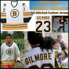 Adam Sandler Boston Bruins Happy Gilmore White Hockey Jersey