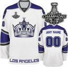 LA Kings Jersey Customized 2014 Stanley Cup Champions Third White Jersey (Custom or Blank)