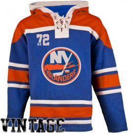 Mens NY Islanders Old Time Blue Lace Heavyweight Hoodie Hockey Jersey