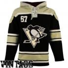 Pittsburgh Penguins  Old Time Black Lace Heavyweight Hoodie Hockey Jersey