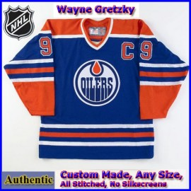 Edmonton Oilers Authentic Style Royal Blue Classic Game Jersey #99 Wayne Gretzky
