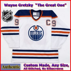 Wayne Gretzky #99 Edmonton Oilers Authentic Style White Game Jersey