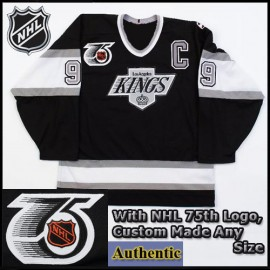 Wayne Gretzky 99 LA Kings Authentic Style Black Game 25th & 75th Ann Jersey