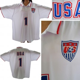Team USA Mens Nike Style Home White Soccer Jersey 2014/15