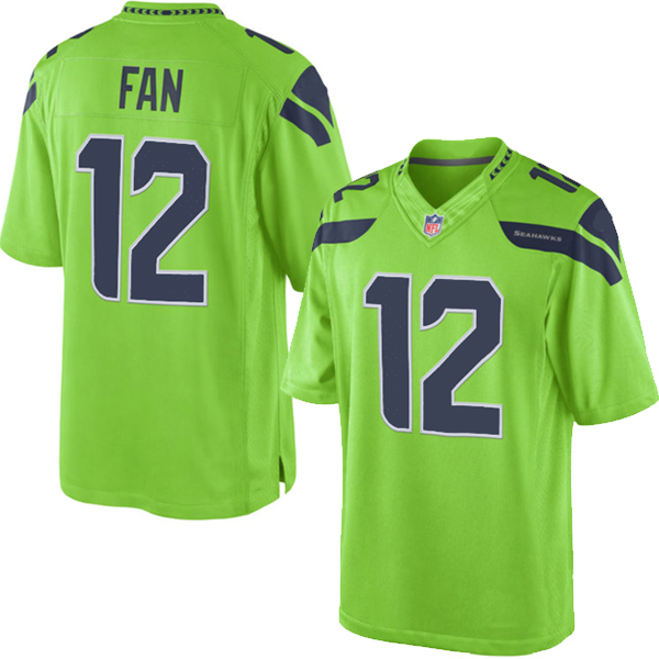 pretty nice fc6e1 92f8c Seattle Seahawks Nike Elite Style Green Color Rush Legend ...