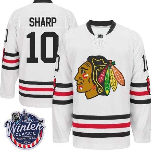 finest selection 0e76a d7bba Winter Classic 2015 Chicago Blackhawks Jersey Sharp 10